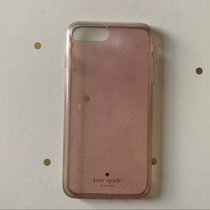 ♠️kate spade Light Pink Glitter iPhone 8 Plus Case